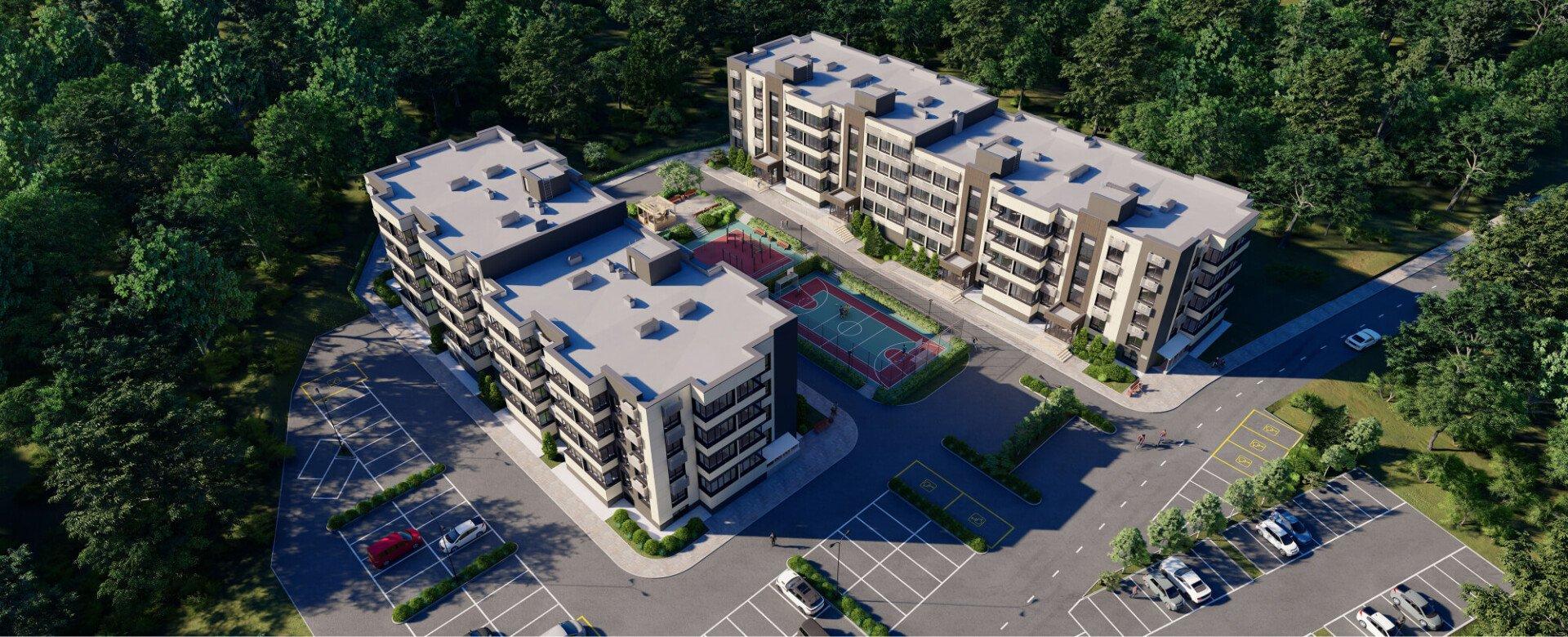 Жилой комплекс расположен в зеленом лесном районе Владивостока